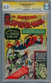 Amazing Spider-man #14 CGC 8.5 Signature Series Signed Stan Lee 1st Green Goblin Marvel comic book